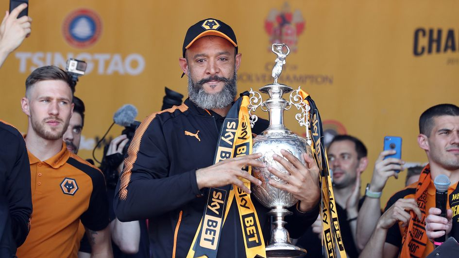 Nuno Espirito Santo: The Wolves manager with the Sky Bet Championship title