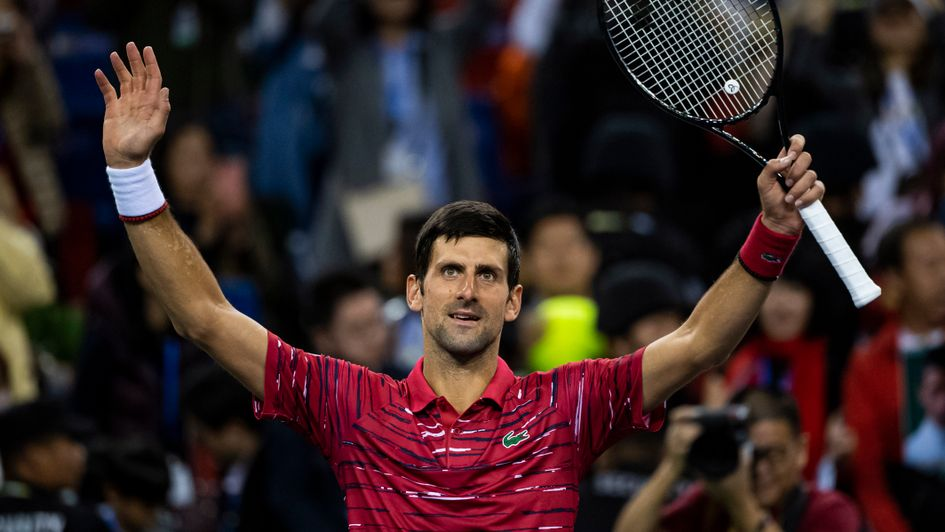 Novak Djokovic: Celebrations for the Serbian in Shanghai