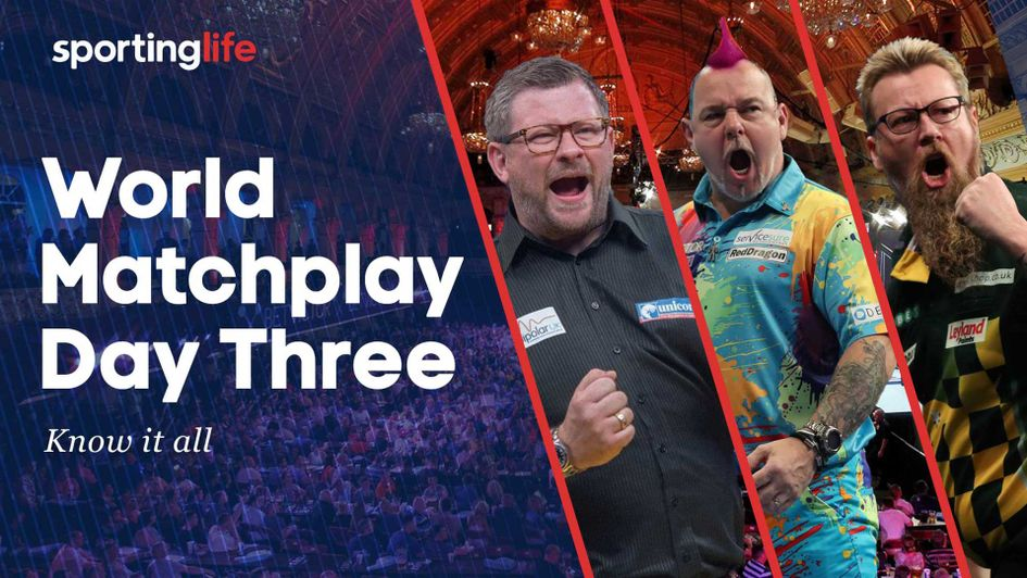 Check out our tips for day three of the World Matchplay