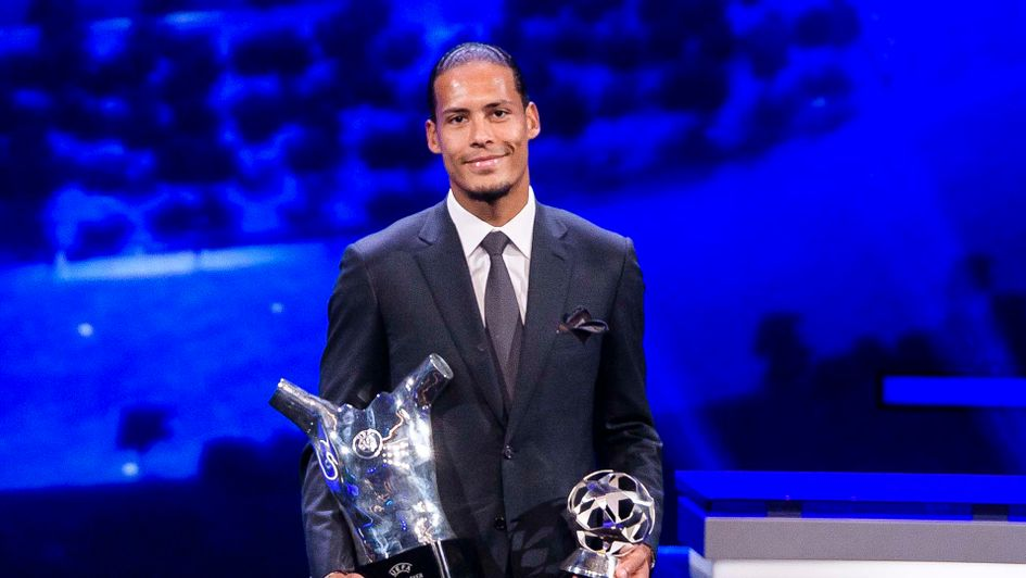 Liverpool defender Virgil van Dijk wins the UEFA Player of the Year award