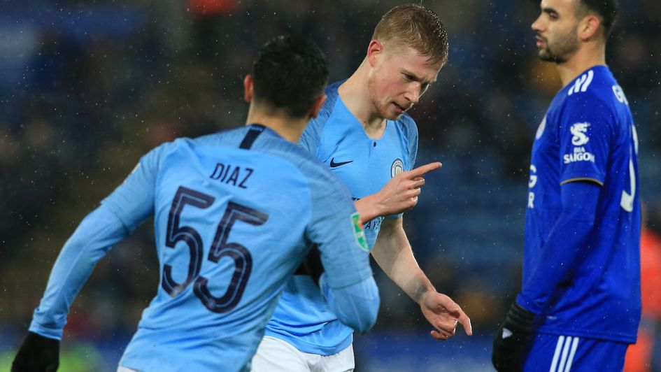 Kevin De Bruyne was on target for City