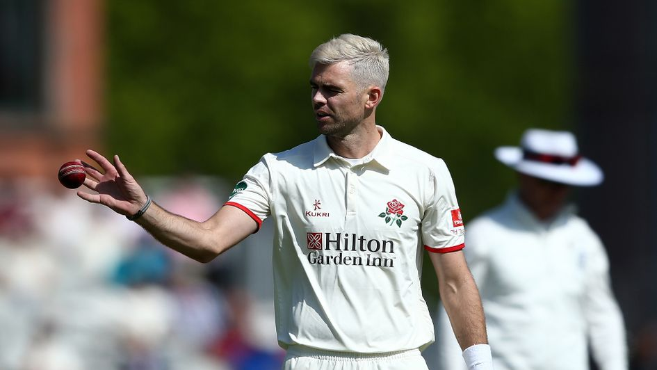 James Anderson modelling his new hairstyle
