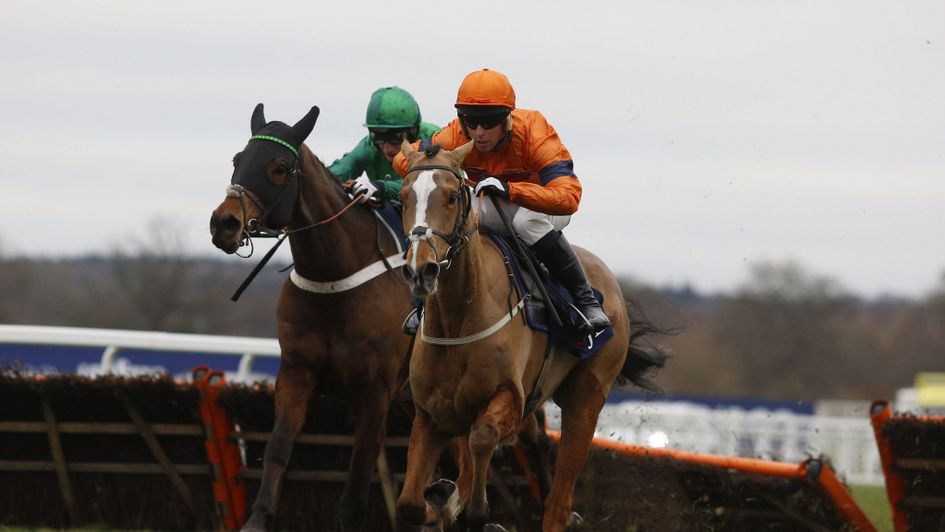 Sam Spinner winning the Grade One Long Walk Hurdle