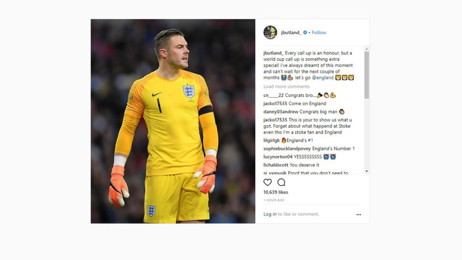 Jack Butland on his World Cup call