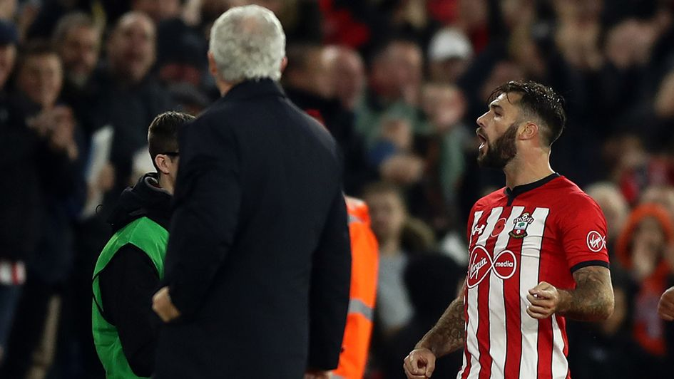 Charlie Austin wasn't happy with the referee