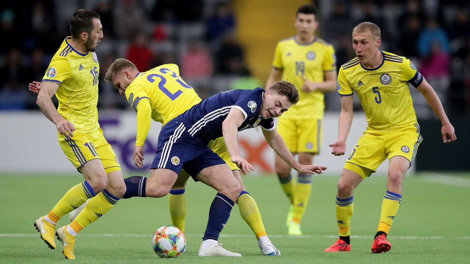 Scotland were defeated by Kazakhstan