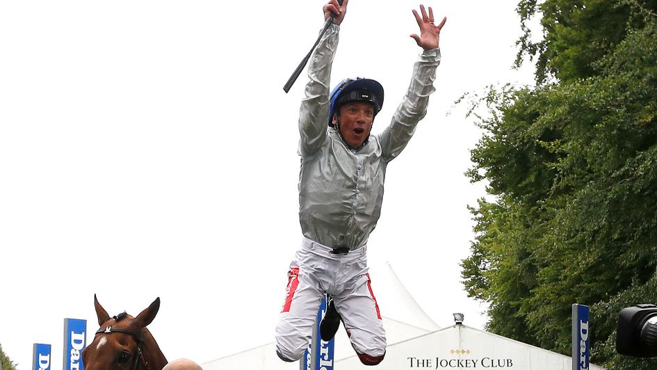 Frankie Dettori celebrates his Bunbury Cup win