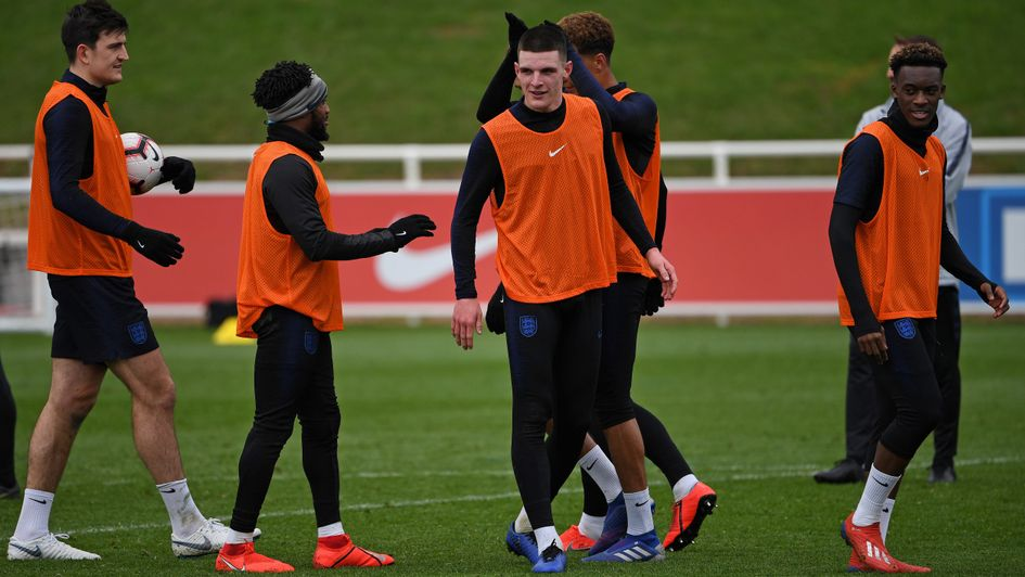 Declan Rice: The England ace linked up with the senior squad for the first time (March, 2019)