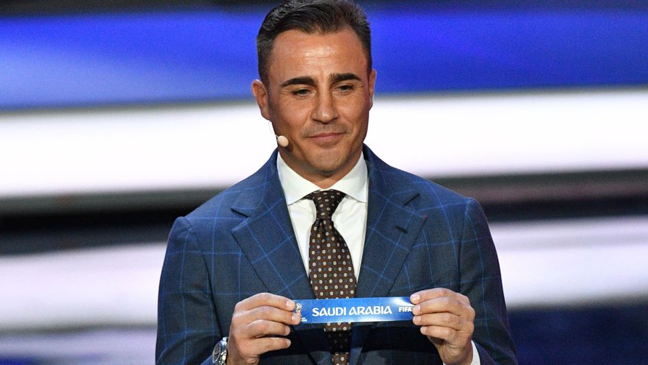 Fabio Cannavaro selects Saudi Arabia in the 2018 World Cup draw
