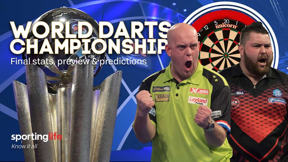 Michael van Gerwen takes on Michael Smith in the World Darts Championship final