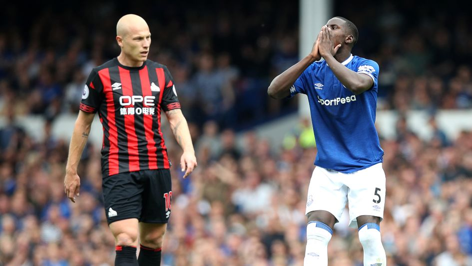 Action from Everton against Bournemouth