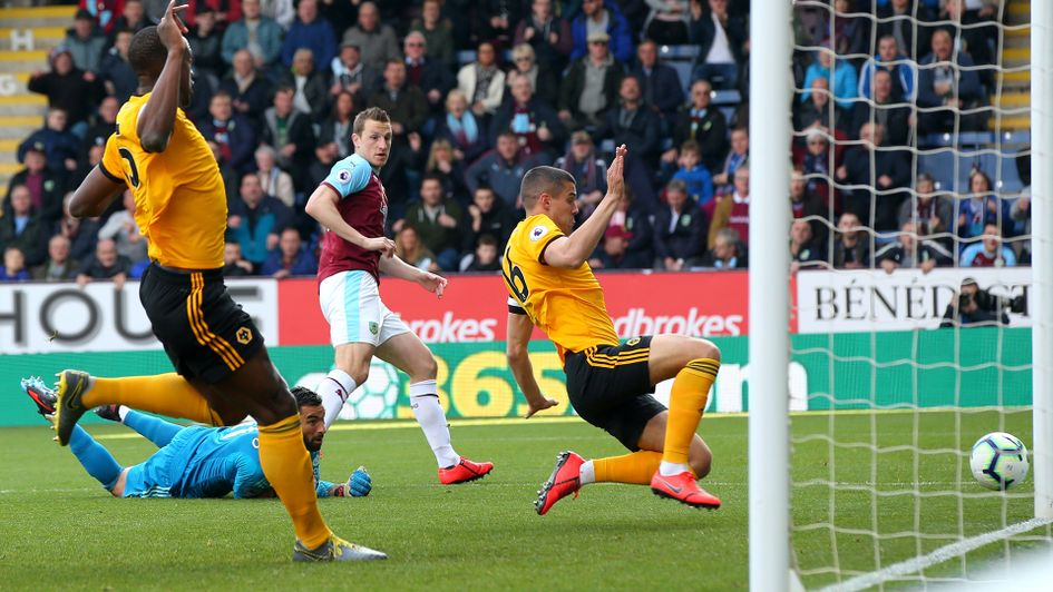 Conor Coady scores an own goal against Burnley