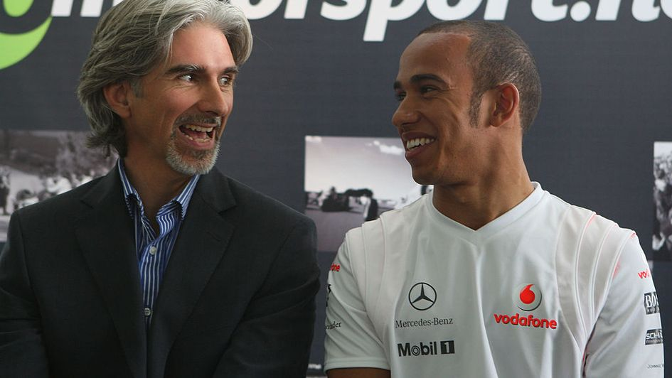 Damon Hill and Lewis Hamilton