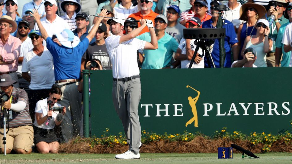 Webb Simpson in action at Sawgrass