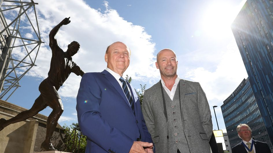 Freddy Shepherd with Alan Shearer