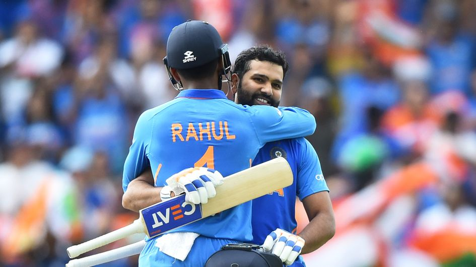 Rohit Sharma and KL Rahul of India