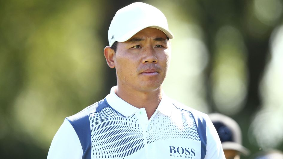 Wu Ashen: The 33-year-old, pictured on day two of the KLM Open