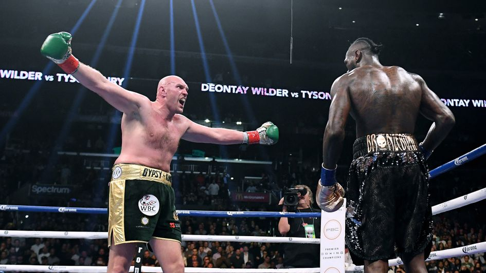 Tyson Fury and Deontay Wilder drew in Los Angeles