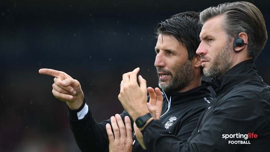 Lincoln City manager Danny Cowley (left) and his assistant Nicky Cowley