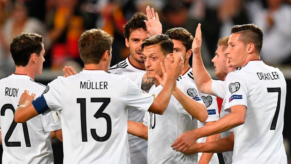 Mesut Ozil and Germany celebrate