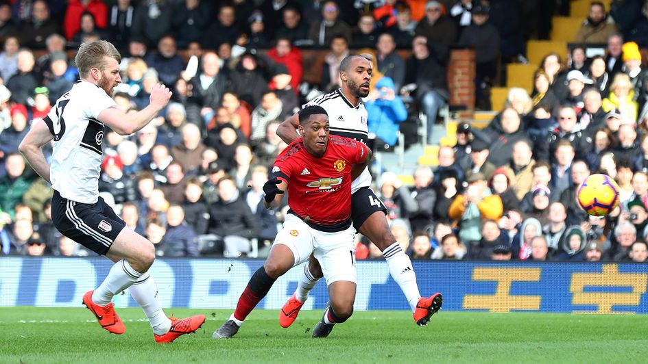 Anthony Martial scores for Manchester United against Fulham
