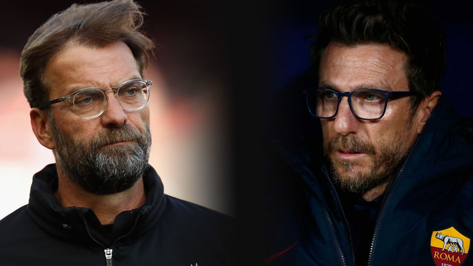Jurgen Klopp takes on Eusebio Di Francesco