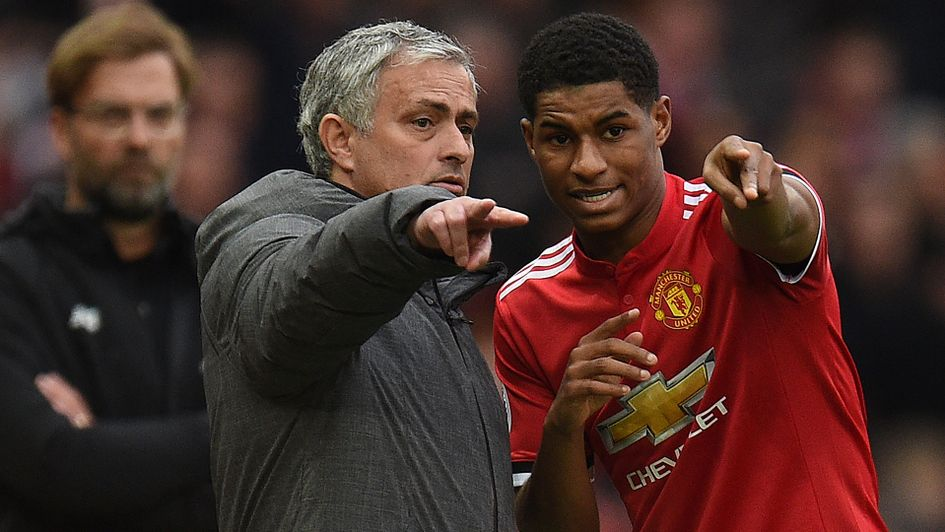 Jose Mourinho and Marcus Rashford