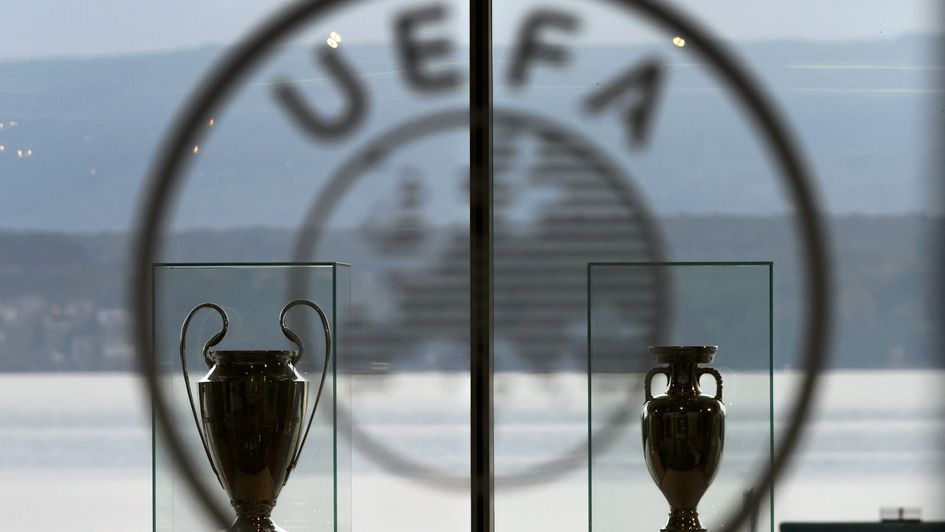 UEFA could have another club competition, in addition to the Champions League (left) and Europa League (right)