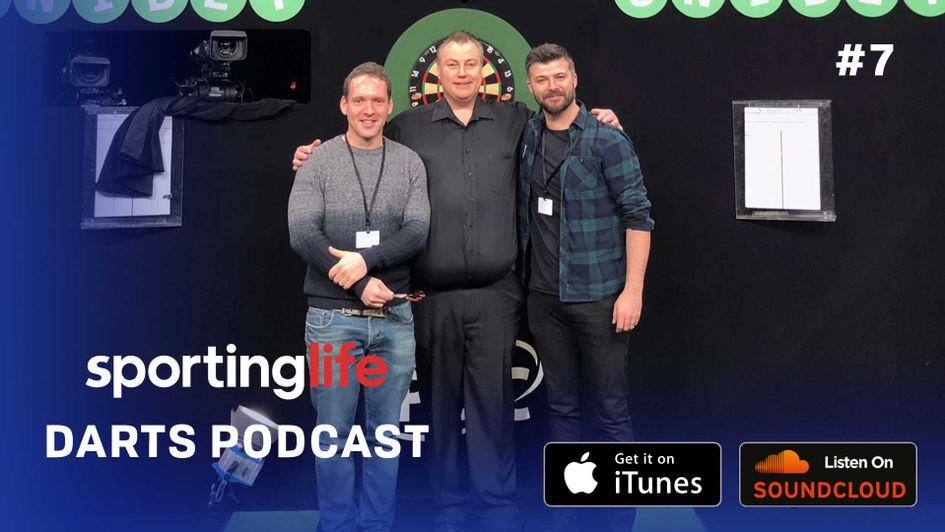 The Sporting Life Darts Podcast trio of Chris Hammer, John Part and host Dom
