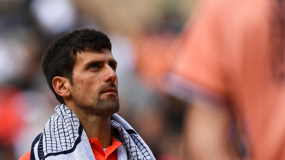Novak Djokovic: Frustration for the Serbian after rain stopped play at Roland Garros