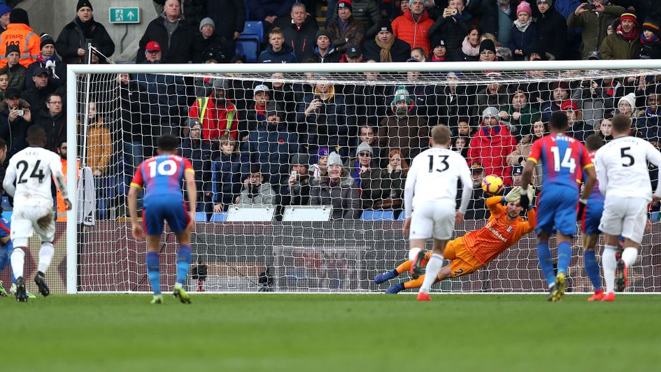 Luka Milivojevic fires home from the spot for Palace against Fulham