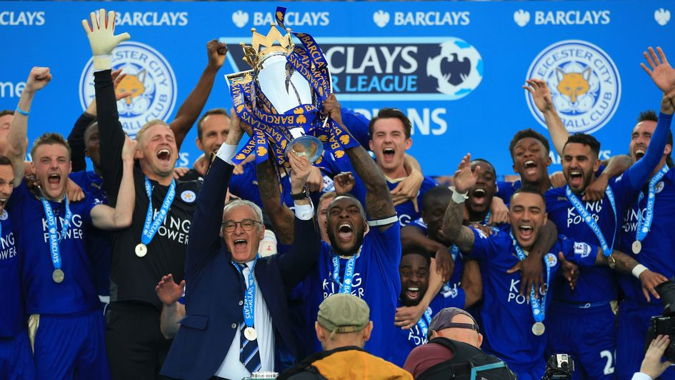 Leicester celebrate their unlikely Premier League title success