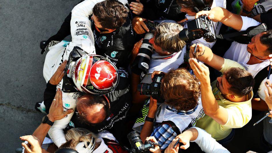 Lewis Hamilton reels in Max Verstappen to win Hungarian Grand Prix