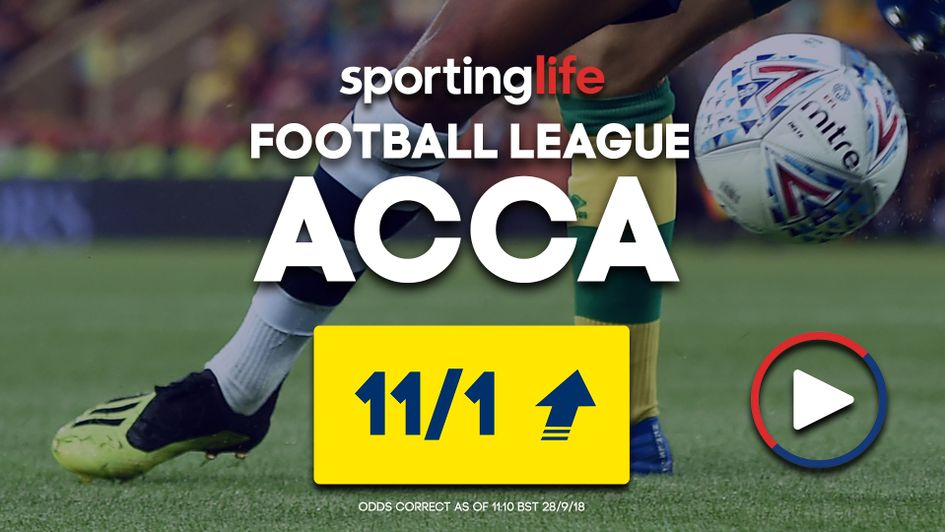 The latest Sporting Life Accumulator for Saturday's matches (Sept 28)