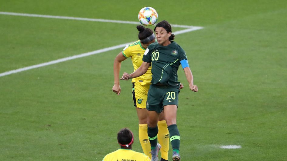 b00061156 Women's Football World Cup: Sam Kerr scores four as Australia beat ...