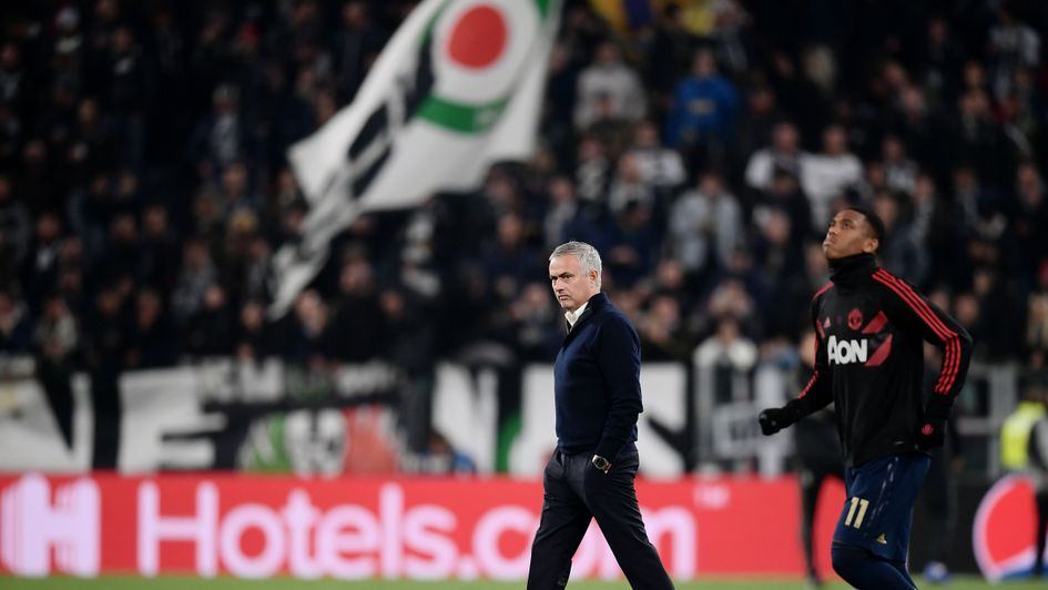 Jose Mourinho, pictured before Juventus v Manchester United in the Champions League
