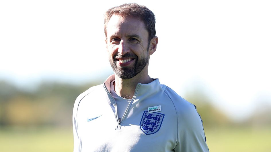 Gareth Southgate oversees training on Tuesday