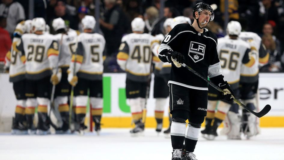 Vegas Golden Knights celebrate a win over LA Kings
