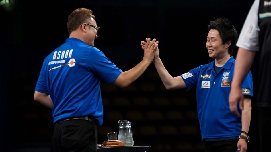 Seigo Asada and Haruki Muramatsu of Japan (Pic: Kelly Deckers/PDC)