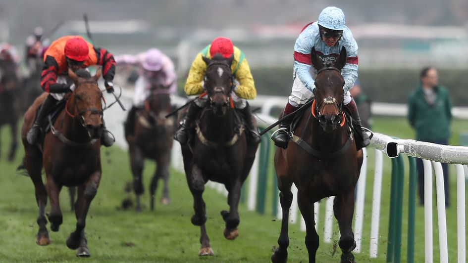 Vision Des Flos (centre) was second to Lalor at Aintree