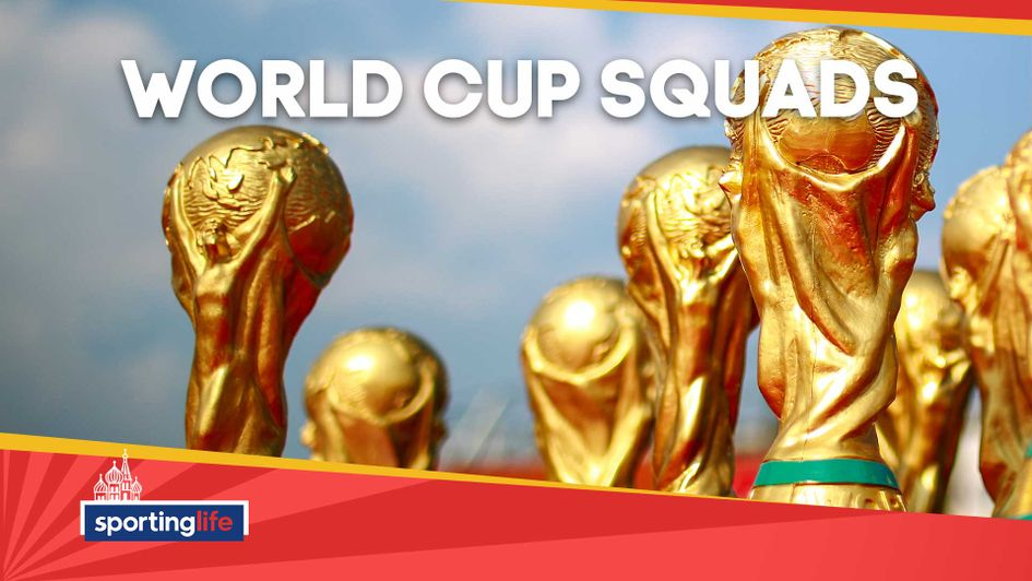 Check out all the squad lists at the World Cup in Russia