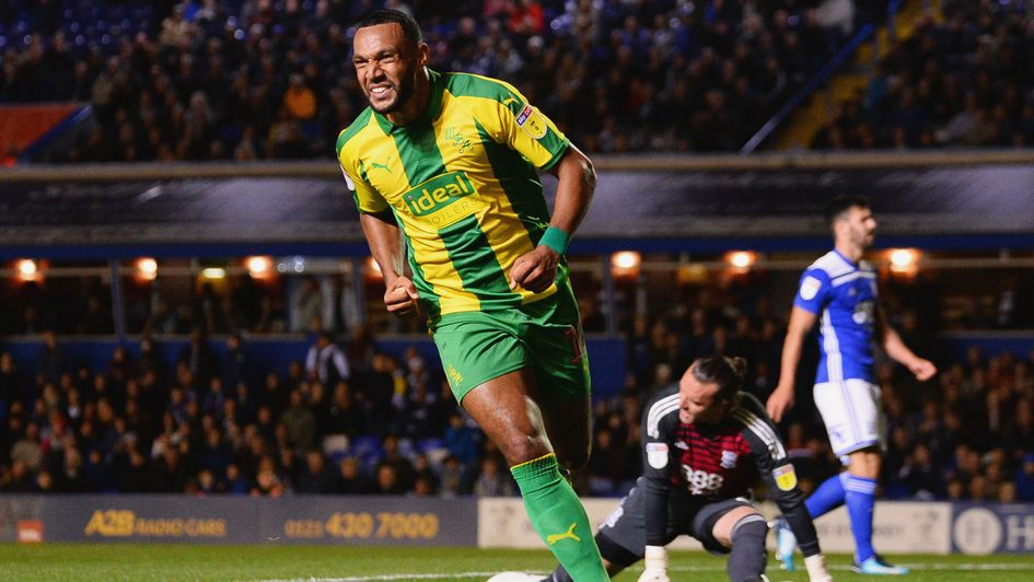 Matt Phillips celebrates after equalising for West Brom at Birmingham