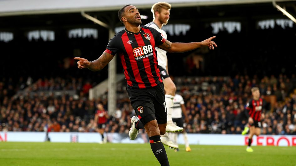 Bournemouth's Callum Wilson celebrates at Fulham