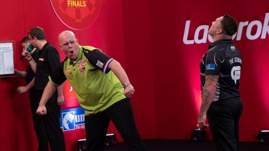 Darts Results Michael Van Gerwen Defeats Gerwyn Price In
