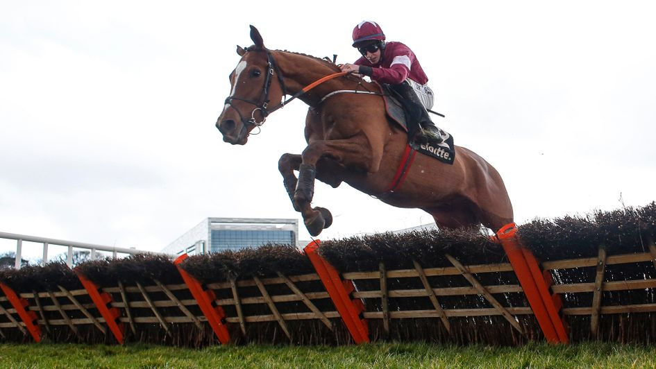 Samcro jumps the last at Leopardstown