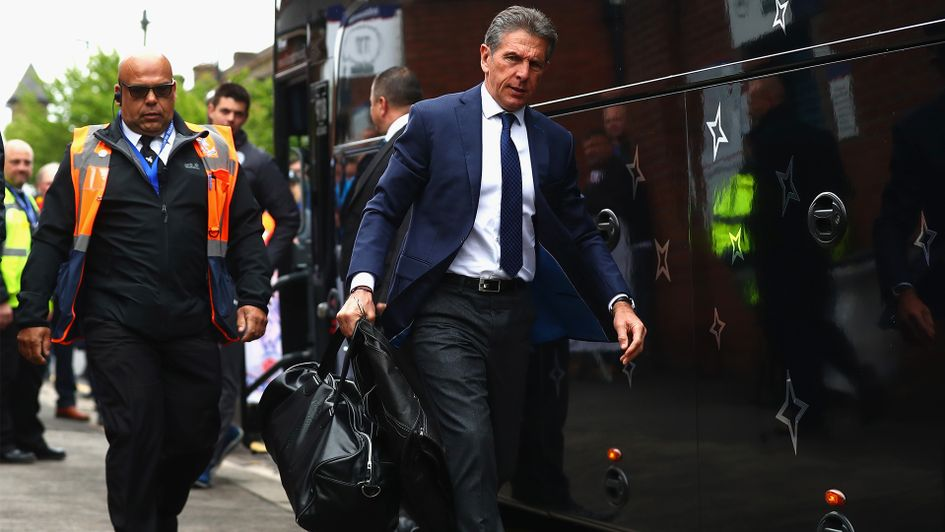 Leicester City boss Claude Puel arrives at Crystal Palace