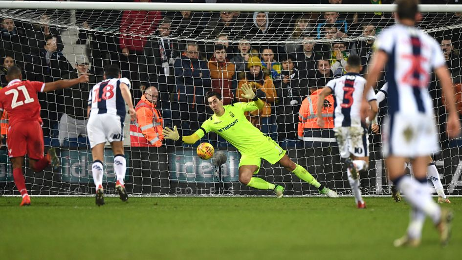 Jay Rodriguez fires home a last minute penalty to earn WBA a point against Forest