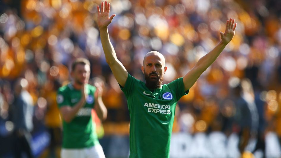 Bruno thanks Brighton fans for their support at Wolves