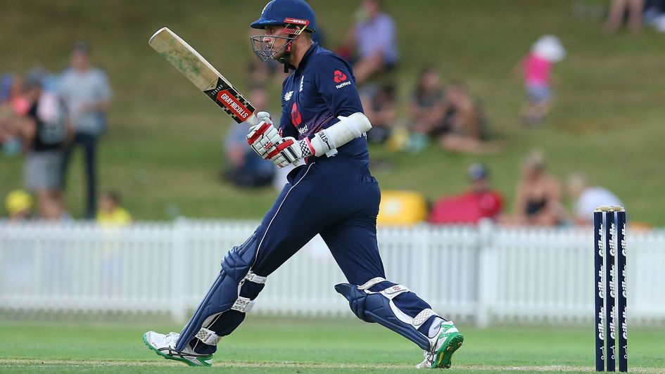 Alex Hales on the charge for England