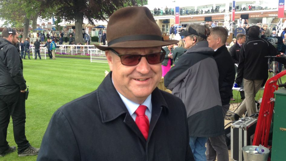Richard Fahey in his lucky hat at York
